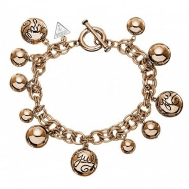 Guess Rose Gold Bauble Bracelet UBB51201