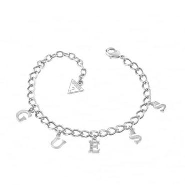 Guess S/Steel Iconic Charm Bracelet UBB61080-L
