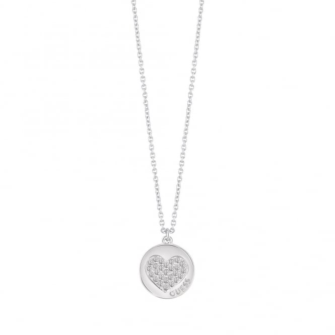 Silver Plate Heart Devotion Necklace UBN82050