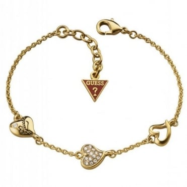 Guess Triple Heart Bracelet UBB71333