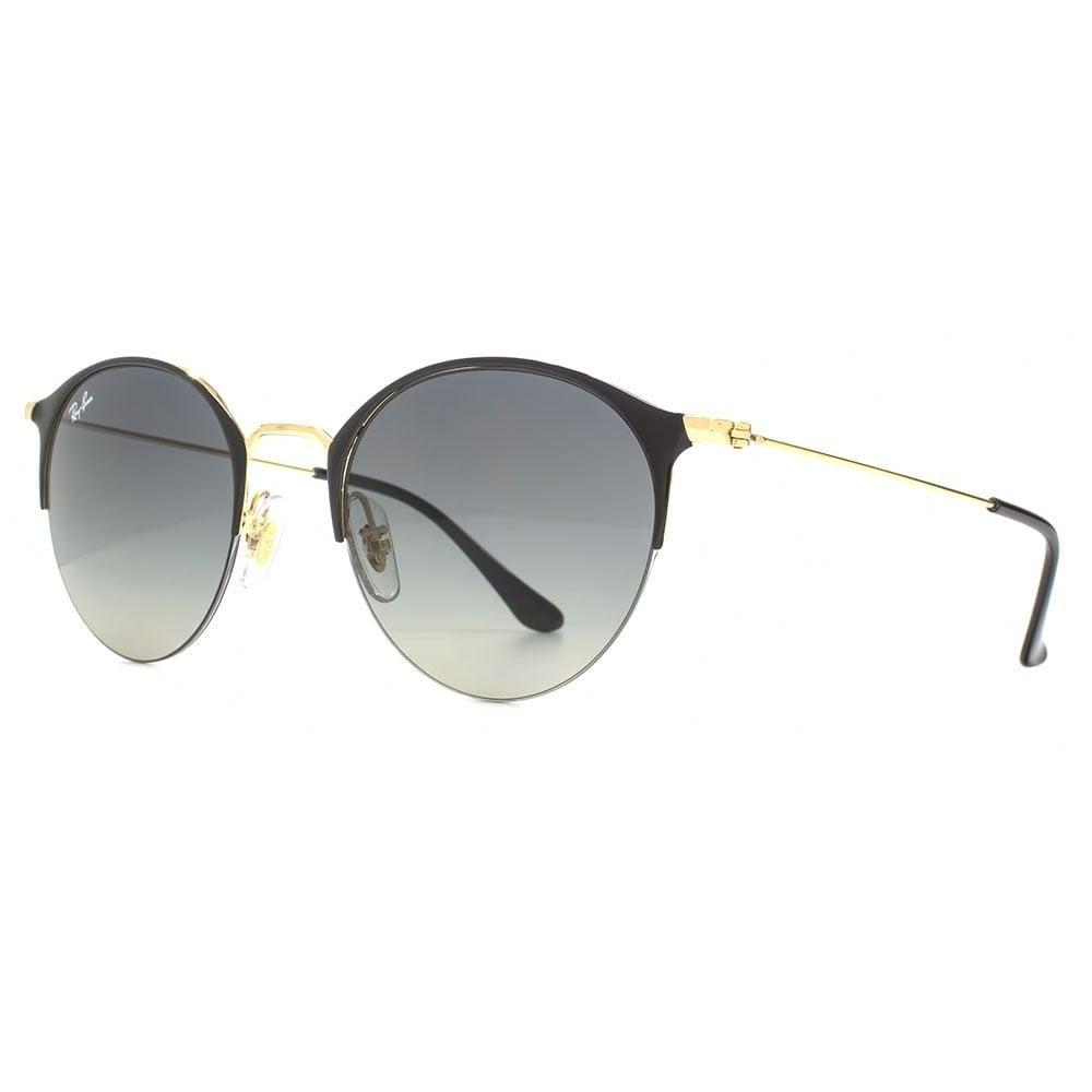 cf8f3e6eb Ray-Ban Half Rim Round Sunglasses in Gold Black RB3578 187/11 50