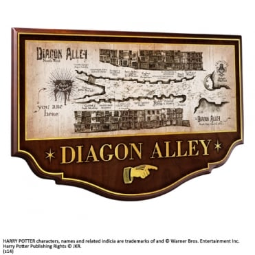 Harry Potter Diagon Alley Wall Plaque NN7058