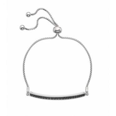 Hot Diamonds Silver Black Crystal Bracelet DL516