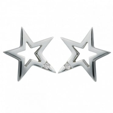 Hot Diamonds Silver Distinctive Earrings DE104