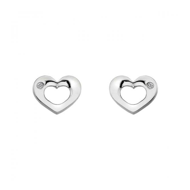 Silver Emerge Open Heart Earrings DE434