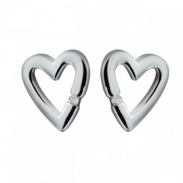 Hot Diamonds Silver Head Over Heels Earrings DE008