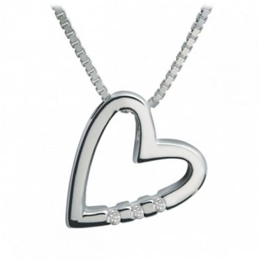 Hot Diamonds Silver Head Over Heels Pendant DP007