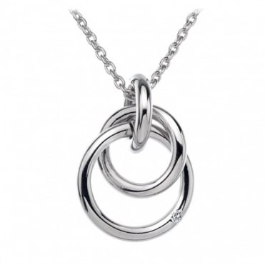 Hot Diamonds Silver Interlocking Pendant DP372