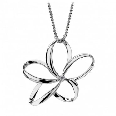 Hot Diamonds Silver Large Open Petal Pendant DP231