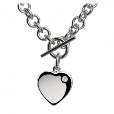 Hot Diamonds Silver Lovelocked Necklace DN001
