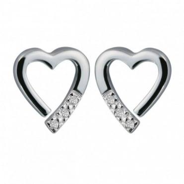 Hot Diamonds Silver Memories Earrings DE110