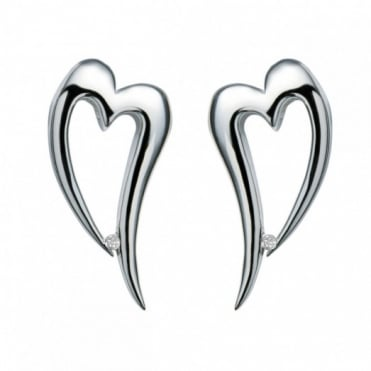 Hot Diamonds Silver Remember Me Earrings DE100
