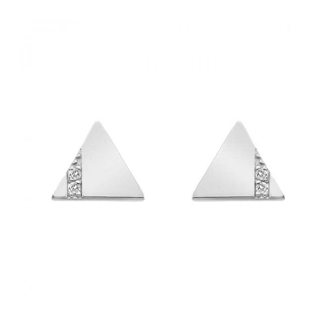 Silver Silhouette Triangle Earrings DE447