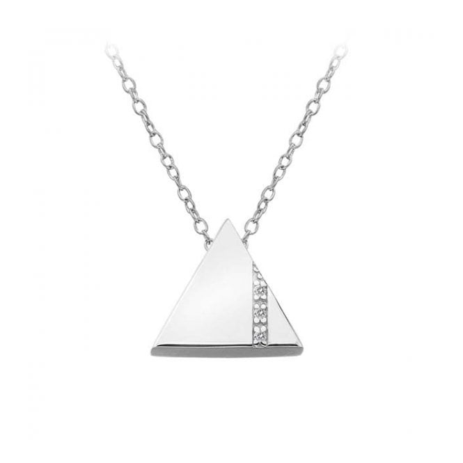 swing round necklace pendant charms diamond triangle white gold pendants