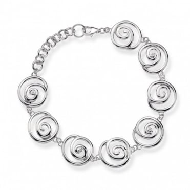 Hot Diamonds Silver Spiral Bracelet DL246