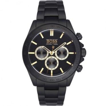 Hugo Boss Gents Black Ikon Chrono Watch 1513278