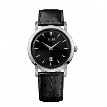 Hugo Boss Gents Black Leather Slim Ultra Watch 1512637