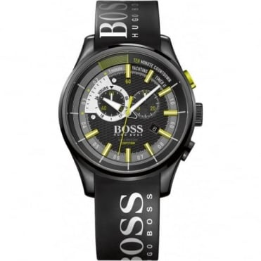 Hugo Boss Gent's Black Rubber Yacthing Timer ll Watch 1513337