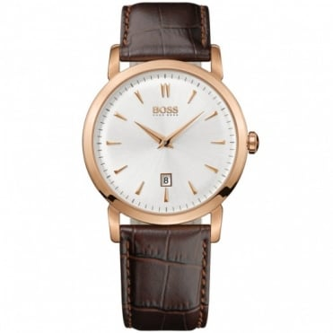 Hugo Boss Gents Brown Leather Slim Ultra Watch 1512634