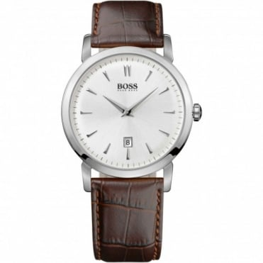 Hugo Boss Gents Brown Leather Strap Watch 1512636
