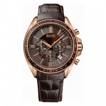 Hugo Boss Gent's Rose Gold Chrono Diver Sport Watch 1513093
