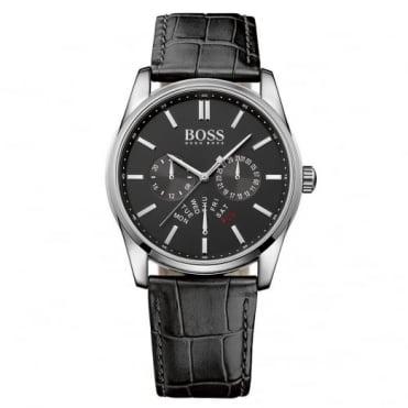 Hugo Boss Gent's S/Steel Black Leather Heritage Watch 1513124