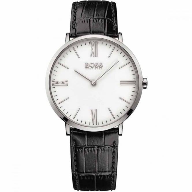 Hugo Boss Gent's S/Steel Black Leather Jackson Watch 1513370