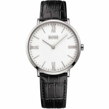 Hugo Boss Gent's S/Steel Black Leather Jackson Watch 1513370