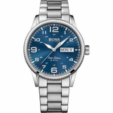Hugo Boss Gent's S/Steel Blue Dial Pilot Watch 1513329