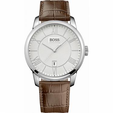 Hugo Boss Gent's S/Steel Brown Leather Classico Watch 1512973