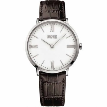 Hugo Boss Gent's S/Steel Brown Leather Jackson Watch 1513373
