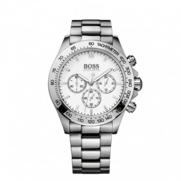 Hugo Boss Gents Stainless Steel Chrono Ikon Watch 1512962