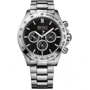 Hugo Boss Gents' Stainless Steel Chrono Ikon Watch 1512965