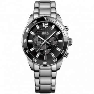 Hugo Boss Gents Stainless Steel Chronograph Watch 1512806
