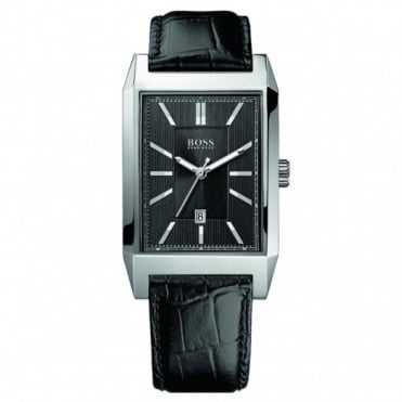 Hugo Boss Gent's Stainless Steel Leather Strap Watch 1512915