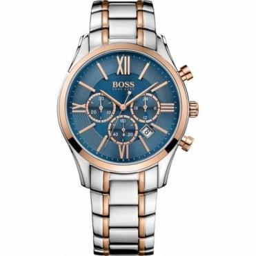 Hugo Boss Gent's Two Tone Chronograph Ambassador Watch 1513321