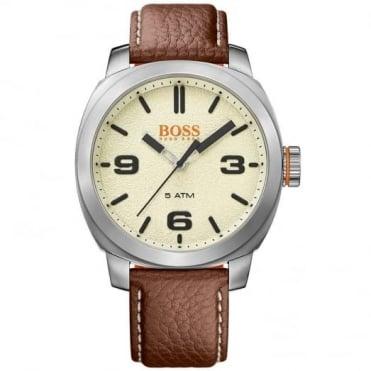 Hugo Boss Orange Gent's S/Steel Brown Leather Cape Town Watch 1513411