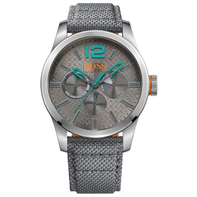 Hugo Boss Orange Gent's S/Steel Fabric Strap Paris Watch 1513379