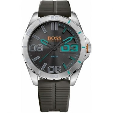 Hugo Boss Orange Gent's Stainless Steel Rubber Strap Watch 1513380