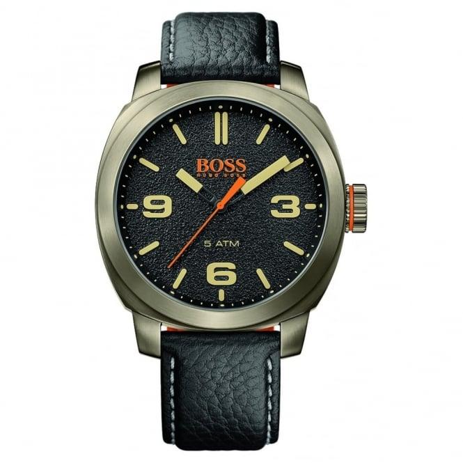 Hugo Boss Orange Men's Black Leather Cape Town Watch 1513409