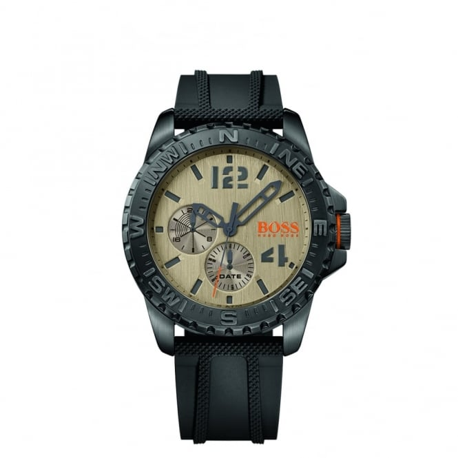 Hugo Boss Orange Men's Black Rubber Reykjavik Watch 1513422