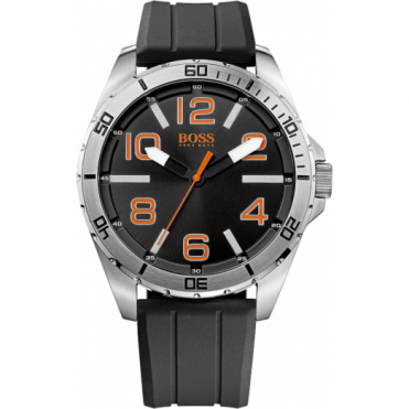 Hugo Boss Orange Men's Black Rubber Strap Watch 1512943