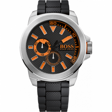 Hugo Boss Orange Men's Black Rubber Strap Watch 1513011