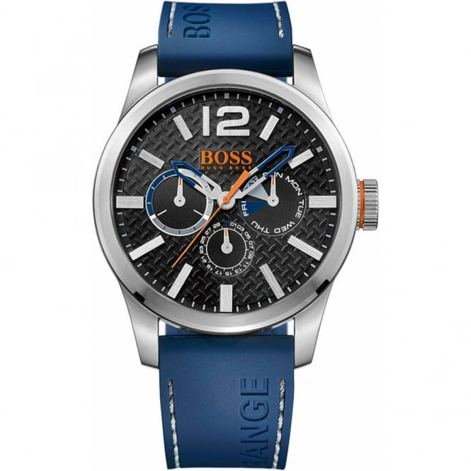 Hugo Boss Orange Men's Blue Rubber Paris Watch 1513250
