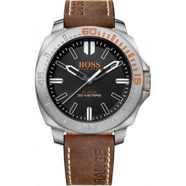Men's Brown Leather Sao Paulo Watch 1513294