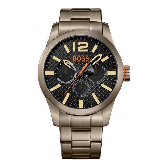 Hugo Boss Orange Men's Gunmetal Steel Multi Dial Watch 1513313