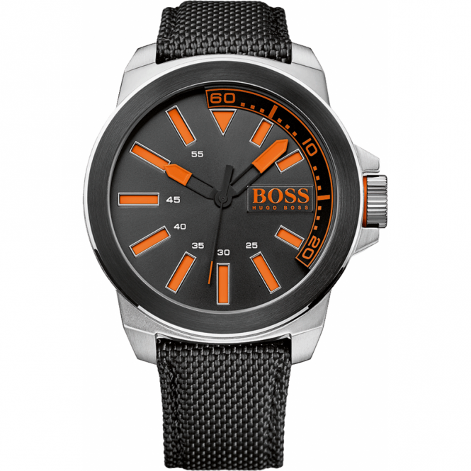 0a3f74680 Men's S/Steel Black Fabric New York Watch 1513116 - Watches from ...