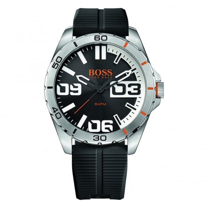 Hugo Boss Orange Men's S/Steel Black Rubber Strap Watch 1513285