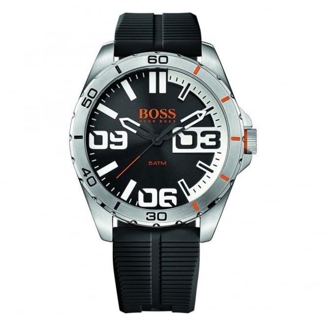 Hugo Boss Orange Men's S/Steel Black Rubber Strap Watch 1513285