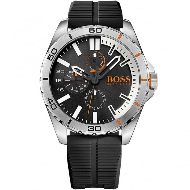 Hugo Boss Orange Men's S/Steel Black Rubber Strap Watch 1513290